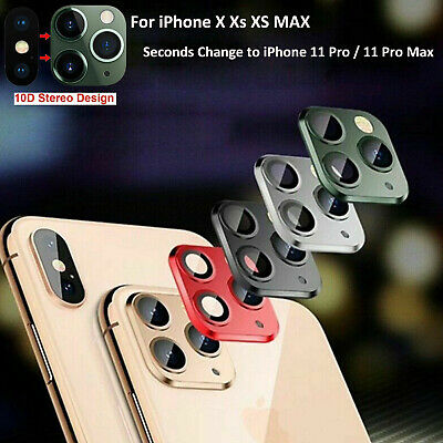 Lens Sticker for iPhone X XS MAX XR Camera Seconds Change to iPhone 11 /Pro/ Max