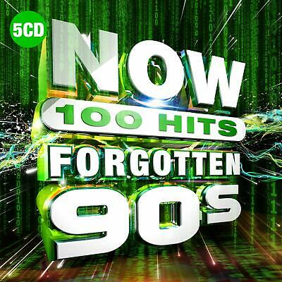 NOW 100 Hits Forgotten 90s New 5 CD Box Set / Free Delivery