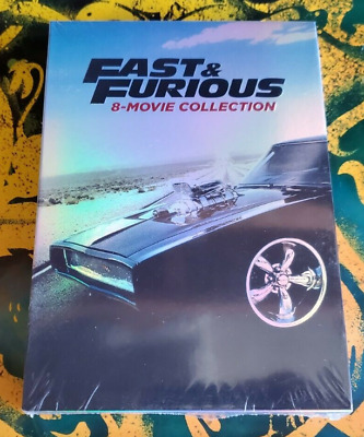 Fast and Furious: 8-Movie Collection (DVD, 2017, 9-Disc Set) NEW & Sealed