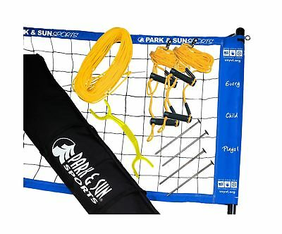 Park & Sun Portable Volleyball Net System Adjustable Height Poles Outdoor Sports