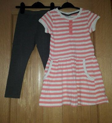 Girls Dress and Leggings Set from Matalan Age 5 Years