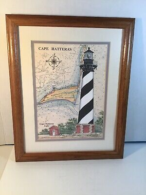 Art Print Cape Hatteras Lighthouse LD922 Framed or Plaque By Lori Deiter
