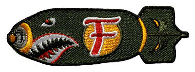 """Dropping F Bomb WW 2 Style Tactical Patch [""""Velcro Brand"""" Fastener-FB8]"""