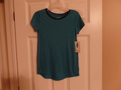 Old Navy, Girls Active Tee Shirt, Go-Dry, Aqua, Size: Large (10-12), New w/Tags