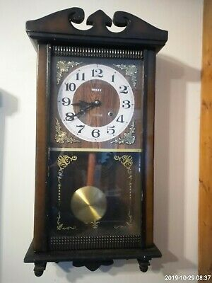 Vintage Pendulum 31 Day  long Wall Clock Korea