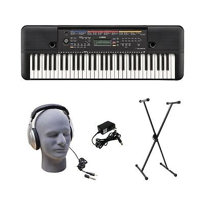 Yamaha PSRE263 Portable Keyboard Package with SXKS Stand Standard Pack