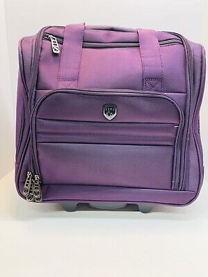 """Travelers Polo & Racquet Club TPRC 16"""" Rolling Underseat Carry-on Luggage"""