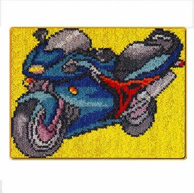 MOTORBIKE LATCH HOOK RUG KIT, NEW DESIGN and UK SELLER