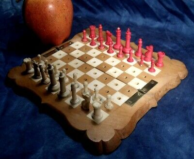 Antique Travelling Chess Set.