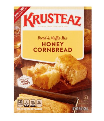 Krusteaz Honey Cornbread Bread & Muffun Mix Made with Real honey