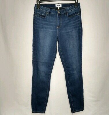 $199 PAIGE Verdugo Ankle Skinny Jeans in Gilmore Maternity Size 26 New with Tag