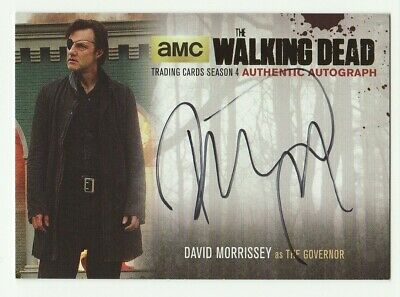 David Morrissey As The Governor The Walking Dead S4 P1 Gold Foil /25 Auto #Dm2