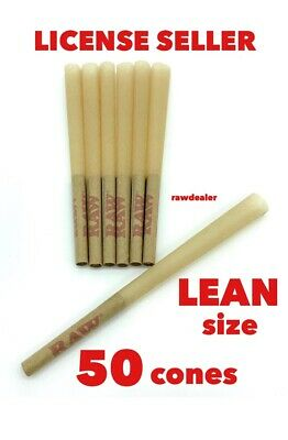 raw classic LEAN size pre-rolled cone(50 pack) 100%AUTHENTIC