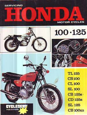 Honda TL125 CB100 CL100 SL100 CB125S CD125S SL125 workshop service  manual