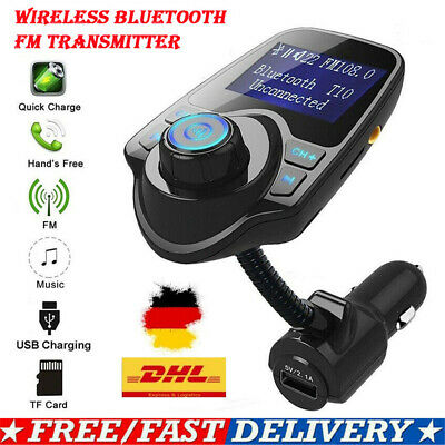 Autoradio Bluetooth KFZ Adapter Ladegerät FM Transmitter MP3 Player USB Stick DE