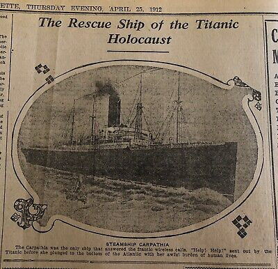 """Newspaper 1912,""""TITANIC"""",Mysterious Steamship Has Been Found,Titanic Holocaust"""""""