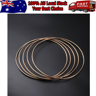 10Pcs Strong Metal Dream Catcher Dreamcatcher Ring Macrame Craft Hoops 100mm AU