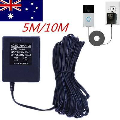 Power Supply Adapter Transformer Charger For Video Ring Doorbell AU Plug 5/10M