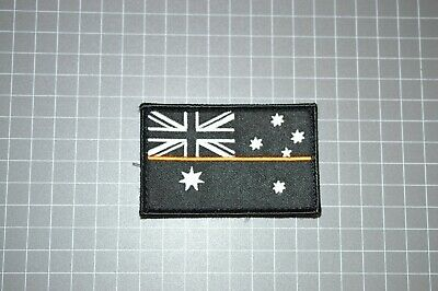 Australia Flag - Thin Orange Line SES Patch (Hook & Loop) (B17)