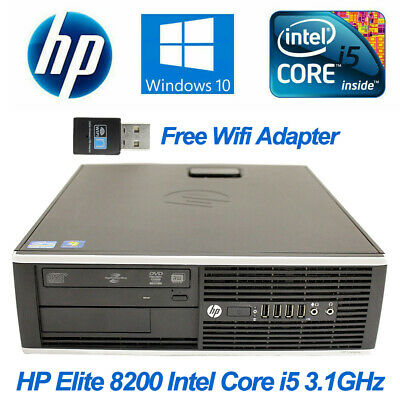 HP Elite 8200 SFF Desktop PC Intel Core i5-2400 3.1GHz 4GB 250GB HDD Win10