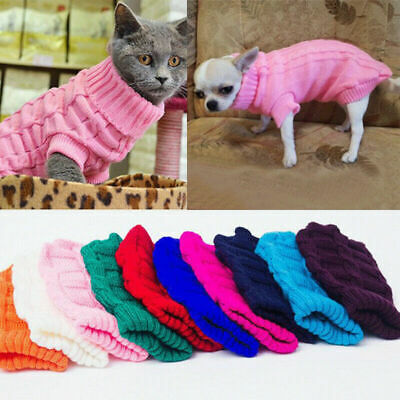 Winter Dog Clothes Puppy Pet Cat Sweater Jacket Coat For Small Dogs 3 Sizes Du