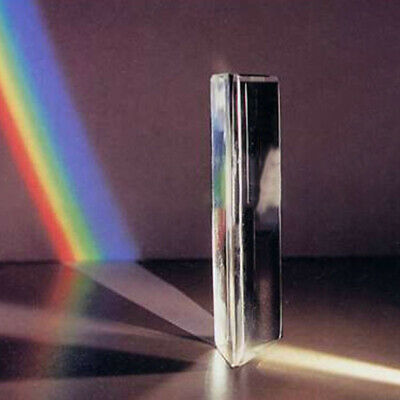 8.7CM Optical Glass Triangular Prism for Photography Teaching Light Spectrum