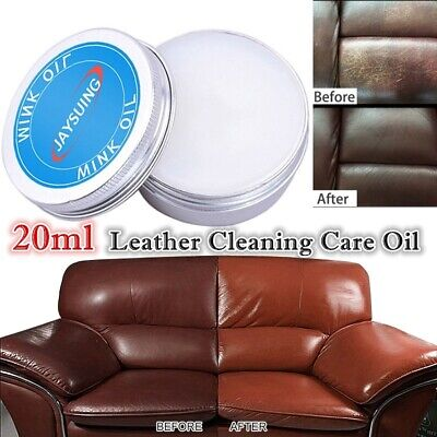 20ml Leather Oil Finishing Cream Car Seat Sofa Shoes Bags Maintenance Cleaner