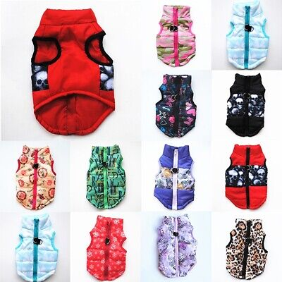 Fall Winter Dog Clothes Small Large Big Dogs Waterproof Pet Coats Vest Jacket US