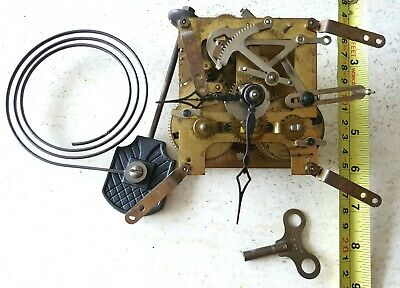 Clock Movement Mantel Shelf Original Hands Key Working. Made In Baden