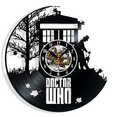 Doctor Who Vinyl Wall Clock Record Gift Decor Sing Feast Day Art Birthday Fans