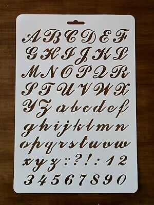 A4 Alphabet Letters And Numbers Stencil