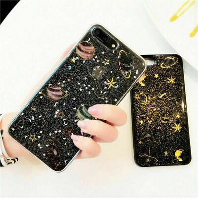 For iPhone 11 Pro Max 7 8 Plus XR X Case Planet Star Shockproof Cover Phone Case