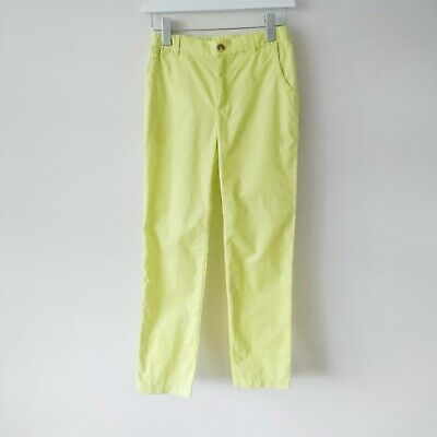 Bonpoint Girls Lime Green Chino Trousers age 12 NWT