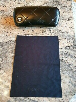 Chanel  Sunglasses Glasses Protective Quilted Case Box 100% Genuine