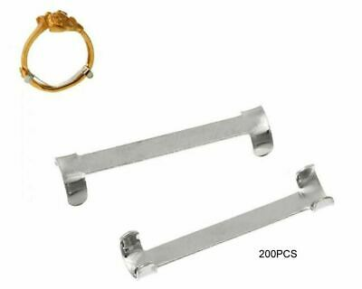 """200 Pieces Ring Size Adjuster Reducer 18mm x 4mm (6/8"""" x 1/8"""") Silver Tone Thin"""