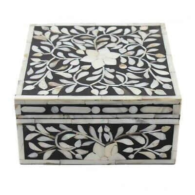 Antique Handmade Bone Inlay Decorative Box