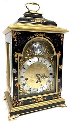 "Comitti Of London Chinoiserie ""Georgian Bell Top"" Musical Mantel Bracket Clock"