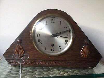 Art Deco Westminster / Whittington Chime Mantel Clock, Serviced, New Springs
