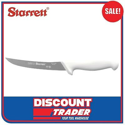 "Starrett Butcher Knife Deboning with Curved Narrow Blade 6"" (15cm) - BKW106-6"