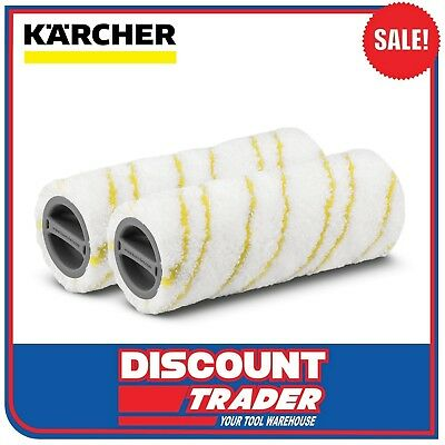 Karcher Microfibre Rollers Set Suits Karcher Floor Cleaner FC5 - 2.055-006.0