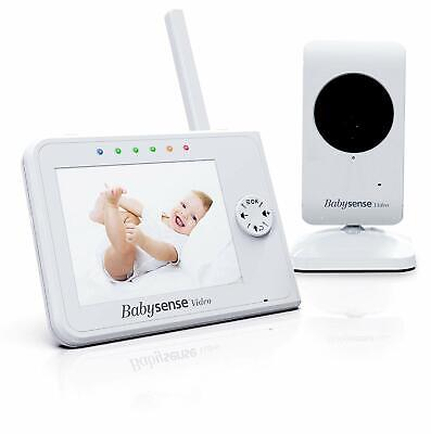 Video Baby Monitor 3.5 Inch Screen - White - Featuring Night Vision Baby Camera