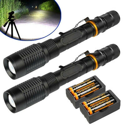 Super Bright Tactical 990000Lumen 5 Modes 18650 T6 LED Flashlight Zoomable Torch