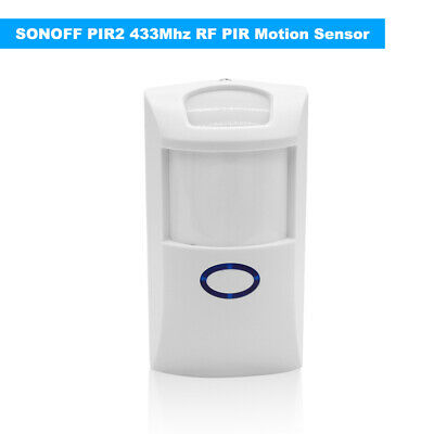 Sonoff PIR2 Wireless Sensor 433Mhz RF PIR Motion Detector for Home Security O9G1