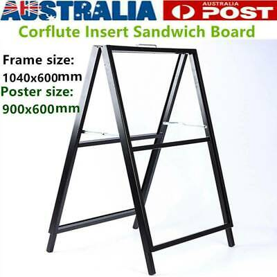 A-frame/Sandwich Board Advertising Display Poster Stand Corflute Insert Holder