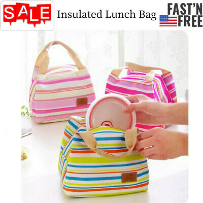 Insulated Lunch Bag Box for Women Men Thermos Cooler Hot Cold Adult Tote Food US