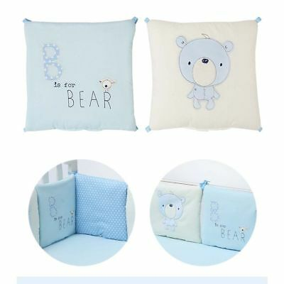 Baby Cot Bed Bumper Soft Toddler Crib Bumper Protector Baby Bedding Cushion Set