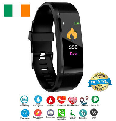 Orologio Smart Fitness Tracker Fit Bluetooth Step Caolorie Sport Android IPHONE