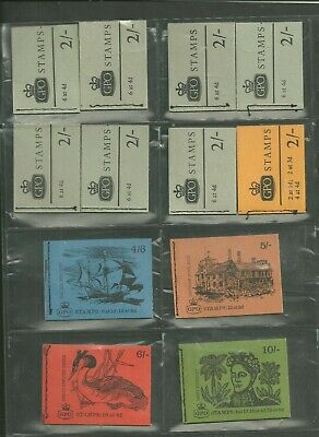 Collection of  pre decimal booklets to 10/- . Mixed perfs.  Complete & Clean.