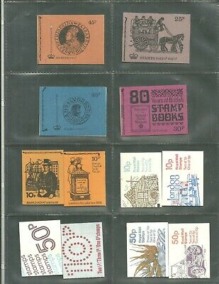 Collection of  decimal booklets to 50p . Mixed perfs.  Complete & Clean.