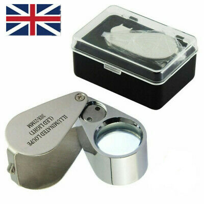 Portable Jewellers Eye Glass Pocket Size 30x21mm Magnifying Loupe Magnifier UK